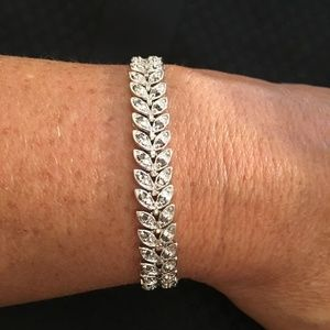 Solid Sterling Silver 1/2 CTW Diamond Bracelet